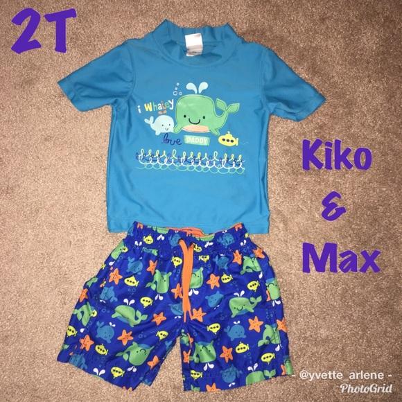 0b324ba1157eb Kiko & Max Swim | Kiko Max Set With Rashguard Shirt | Poshmark